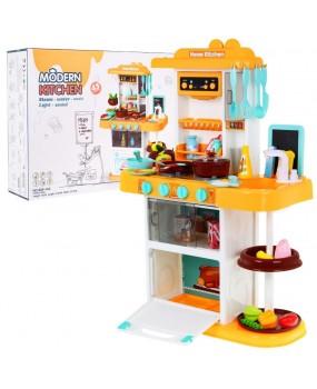 Oranžová kuchynka s parným generátorom